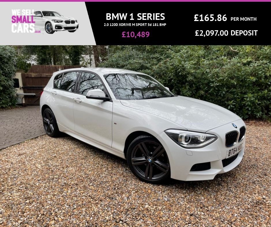 USED 2014 64 BMW 1 SERIES 2.0 120D XDRIVE M SPORT 5d 181 BHP FULL LEATHER SAT NAV RARE CAR FACTORY BLUETOOTH LOW MILES SERVICE