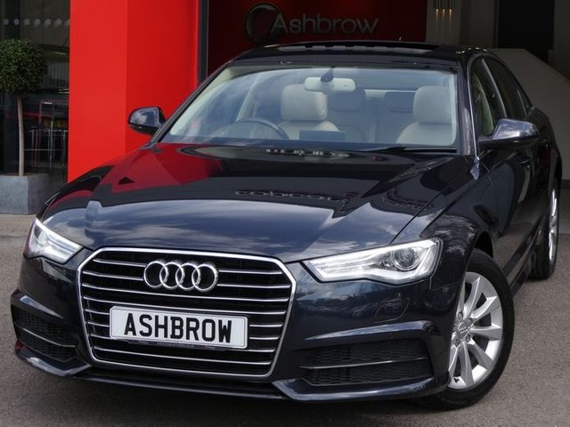 USED 2017 67 AUDI A6 SALOON 2.0 TDI ULTRA SE EXECUTIVE 4d AUTO 190 S/S TILT SLIDE ELECTRIC SUNROOF, 1 OWNER FROM NEW, FULL SERVICE HISTORY, SAT NAV, FULL LEATHER INTERIOR, HEATED FRONT SEATS,DAB RADIO, BLUETOOTH, FRONT & REAR PARKING SENSORS WITH DISPLAY, 17 INCH ALLOYS,  LEATHER TIPTRONIC MULTIFUNCTION STEERING WHEEL (PADDLE SHIFT), LIGHT & RAIN SENSORS WITH AUTO DIMMING REAR VIEW MIRROR, CRUISE CONTROL, AUTO HOLD, 4 ZONE CLIMATE A/C, KEYLESS START,  4 WAY LUMBAR SUPPORT, VAT QUALIFYING.
