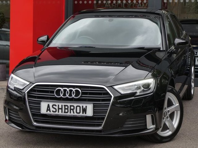 USED 2017 67 AUDI A3 SPORTBACK 1.0 TFSI SPORT 5d 115 S/S 1 OWNER FROM NEW, FULL SERVICE HISTORY, UPGRADE PRIVACY GLASS, SAT NAV, AUDI SMART PHONE INTERFACE FOR APPLE CAR PAY / ANDROID AUTO / MIRROR LINK, REAR ACOUSTIC PARKING SENSORS, BI-XENON HEADLIGHTS W/ LED DRLS & HEADLAMP WASHERS, CRUISE CONTROL, DAB RADIO, BLUETOOTH W/ AUDIO STREAMING, USB PORTS x2 + AUX INPUT+CD DRIVE, WIFI / WLAN PLAYER, SD CARD READER x2 + SIM CARD READER, DUAL CLIMATE AIR CONDITIONING, SPORT SEATS, LEATHER MULTIFUNCTION STEERING WHEEL,GREY CLOTH INT,AUTO LIGHTS+WIPERS,VAT Q.