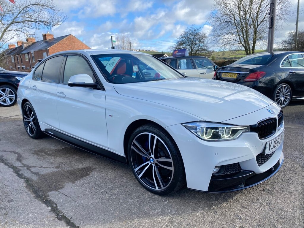 USED 2016 66 BMW 3 SERIES 2.0 320D XDRIVE M SPORT 4d 188 BHP * 1 OWNER * CORAL LEATHER * HEATED SEATS * SAT NAV * LED LIGHTS * 19