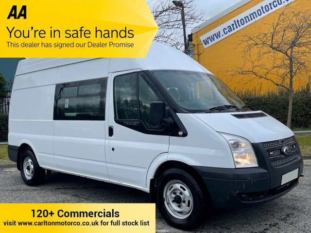 2014 14 FORD TRANSIT 350 TDCi 125 [ WELFARE MESS + TOILET UNIT ] LWB HIGH ROOF VAN