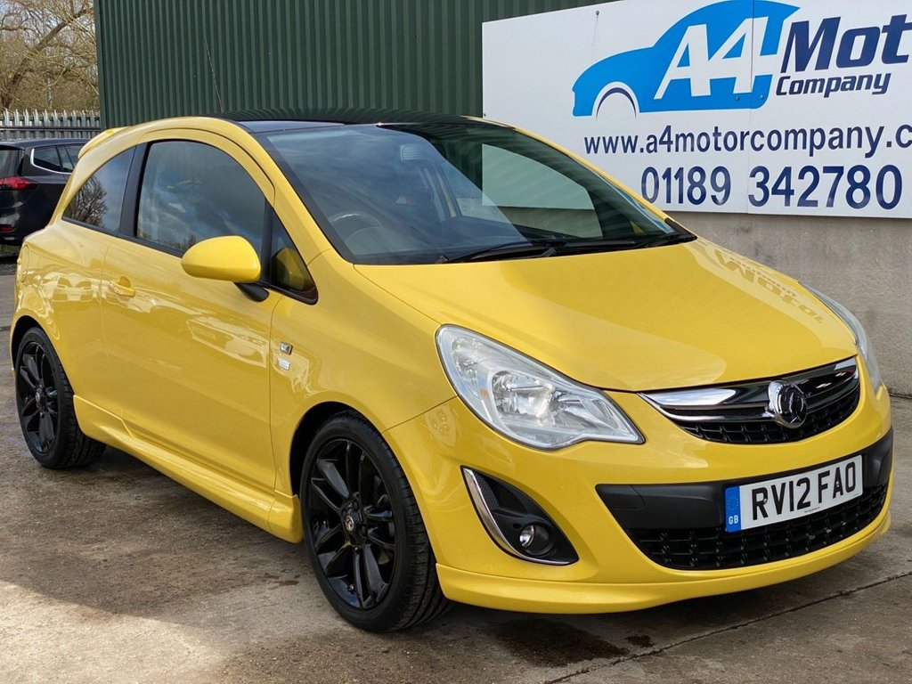 USED 2012 12 VAUXHALL CORSA 1.2 i 16v Limited Edition 3dr (a/c) YELLOW , 1.2 CC ,LOW INSURANCE