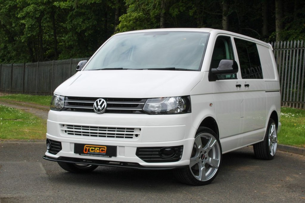 USED 2014 14 VOLKSWAGEN TRANSPORTER 2.0 T30 TDI KOMBI SPORTLINE STYLE BMT A STUNNING SPORTLINE STYLE TRANSPORTER WITH NO VAT TO PAY AND LOW MILEAGE!!!