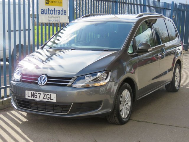 USED 2017 67 VOLKSWAGEN SHARAN 2.0 SE TDI BLUEMOTION TECHNOLOGY 5d 148 BHP 1 Lady Owner & Service History