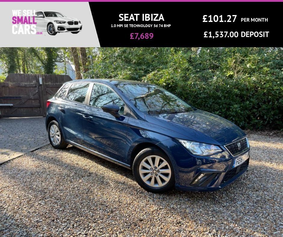 USED 2018 18 SEAT IBIZA 1.0 MPI SE TECHNOLOGY 5d 74 BHP 2 OWNERS FULL SERVICE HISTORY TOUCH SCREEN SAT NAV AUX USB IPOD