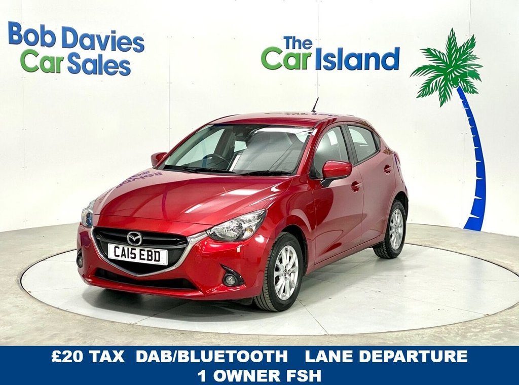 USED 2015 MAZDA 2 1.5 SE-L 5dr 1 owner FSH with Lane Departure Bluetooth and DAB
