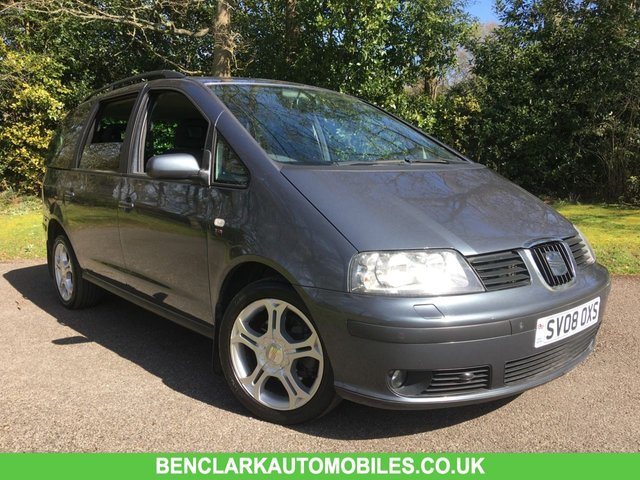 2008 08 SEAT ALHAMBRA 2.0 STYLANCE TDI 5d 140 BHP//7 SEATS/ONLY 2 OWNERS FROM NEW/X2 INTEGRAL CHILD SEATS///NEW CAMBELT //WATERPUMP//MOT//SERVICE