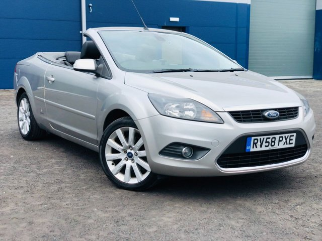 USED 2008 58 FORD FOCUS 2.0 CC3 CONVERTIBLE HALF LEATHER 1 PRE OWNER ONLY FSH  FSH 1 PRE OWNER HEATED HALF LEATHER.
