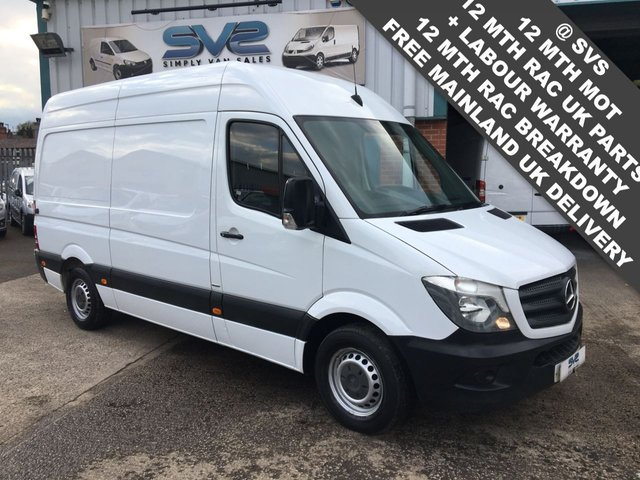 USED 2017 17 MERCEDES-BENZ SPRINTER MWB HIGH ROOF BIGGER 140 BHP ** EURO 6** ENGINE 79K MILES