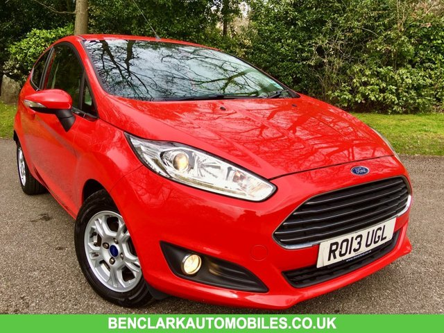 2013 13 FORD FIESTA 1.6 TITANIUM ECONETIC TDCI 3d 94 BHP//ZERO ROAD TAX//1 LADY OWNER//FULL HEATED LEATHER SEATS//REAR PARK ASSIST//ELECTRIC FOLD MIRRORS//FULL SERVICE HISTORY