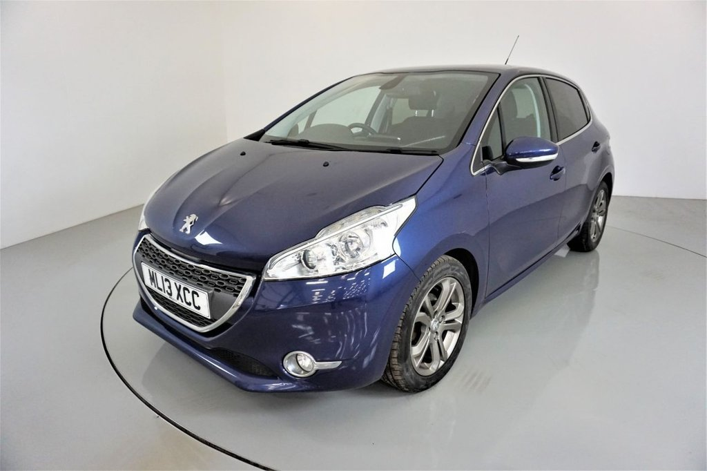 USED 2013 13 PEUGEOT 208 1.6 E-HDI ALLURE 5d-2 OWNER CAR-0 ROAD TAX-BLUETOOTH-DAB RADIO-ALLOY WHEELS-AIR CONDITIONING