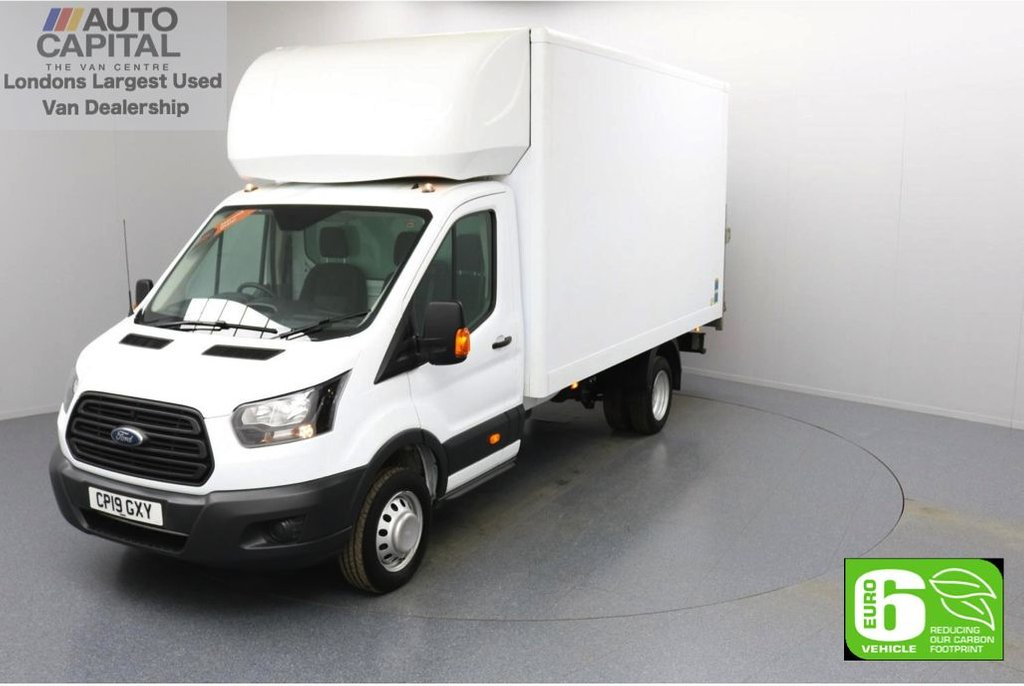 USED 2019 19 FORD TRANSIT 2.0 350 RWD Twin Wheels L4 X-LWB 130 BHP Low Emission Luton Finance Available Online | Rear Tail Lift Fitted | UK Delivery