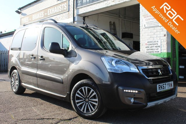 USED 2018 67 PEUGEOT PARTNER 1.6 BLUE HDI S/S TEPEE OUTDOOR 5d 100 BHP VIEW AND RESERVE ONLINE OR CALL 01527-853940 FOR MORE INFO.