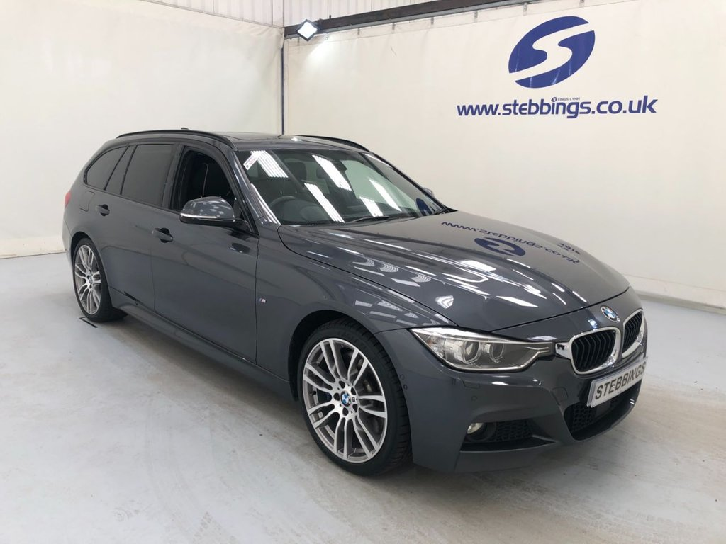 """USED 2014 14 BMW 3 SERIES 3.0 330D XDRIVE M SPORT TOURING 5d 255 BHP  FOUR WHEEL DRIVE PAN ROOF, BMW PROFESSIONAL NAVIGATION, INDIVIDUAL EXTENDED MERINO LEATHER, POWER HEATED FRONT SEATS WITH DRIVERS MEMORY, HEATED REAR SEATS, HEAD UP DISPLAY, DUAL ZONE CLIMATE CONTROL, CRUISE CONTROL, ADAPTIVE HEADLIGHTS, SURROUND VIEW, COMFORT ACCESS, M SPORT PLUS PACKAGE, 19"""" ALLOYS"""