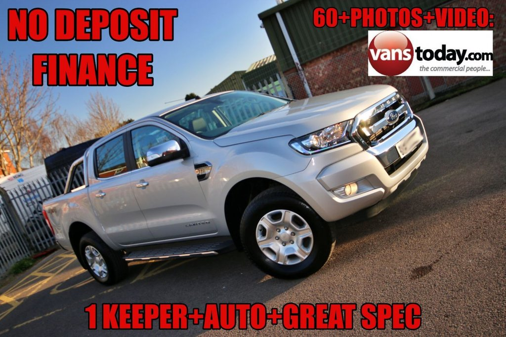USED 2017 67 FORD RANGER 2.2 LIMITED 4X4 DCB TDCI 4d 148 BHP NO DEPOSIT FINANCE + 2 KEEPER + AUTO + EURO 6