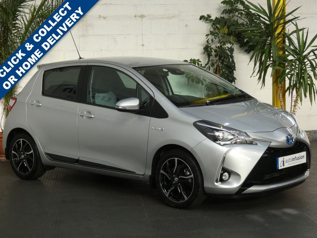 USED 2018 18 TOYOTA YARIS 1.5 VVT-I DESIGN 5d 73 BHP REVERSING CAMERA BLUETOOTH FSH