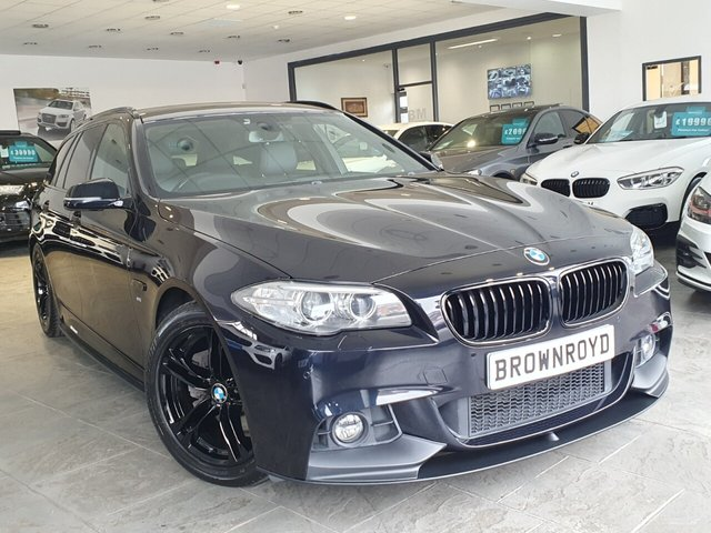 USED 2014 14 BMW 5 SERIES 2.0 520D M SPORT TOURING 5d 181 BHP BM PERFORMANCE STYLING+6.9%APR