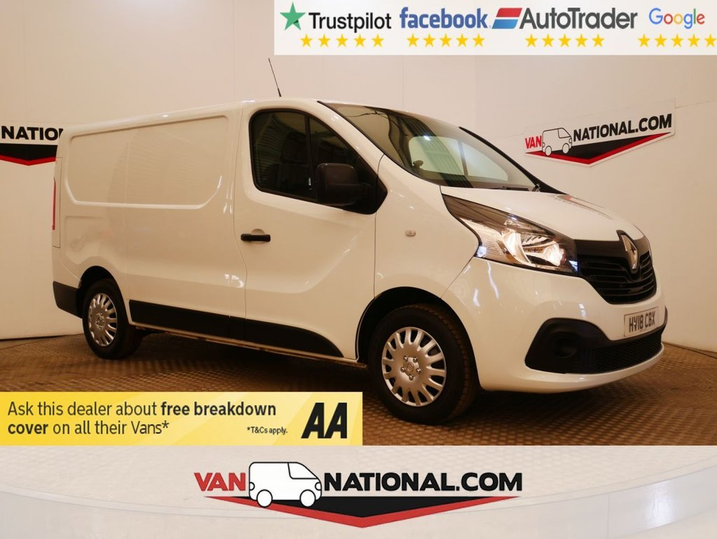 USED 2018 18 RENAULT TRAFIC 1.6 SL27 BUSINESS PLUS DCI 120 BHP L1 H1 * EURO 6 * AIR CON * BLUETOOTH *