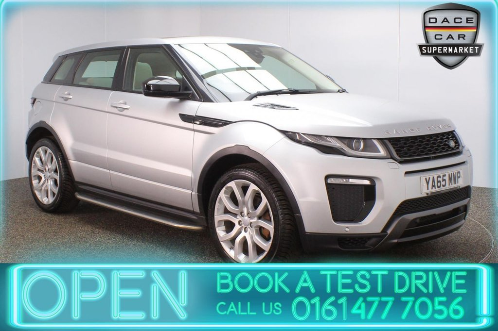 USED 2015 65 LAND ROVER RANGE ROVER EVOQUE 2.0 TD4 HSE DYNAMIC 5DR AUTO 177 BHP FULL SERVICE HISTORY + HEATED LEATHER SEATS + SATELLITE NAVIGATION + PANORAMIC ROOF + REVERSING CAMERA + PARKING SENSOR + SIDE STEPS + BLUETOOTH + CRUISE CONTROL + CLIMATE CONTROL + MULTI FUNCTION WHEEL + XENON HEADLIGHTS + PRIVACY GLASS + ELECTRIC/MEMORY FRONT SEATS + ELECTRIC WINDOWS + ELECTRIC DOOR MIRRORS + ALLOY WHEELS
