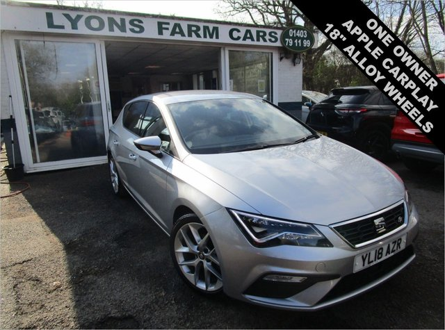USED 2018 18 SEAT LEON 1.4 EcoTSI FR TECHNOLOGY 5d 150 BHP Low Mileage, Seat Main Dealer Service History + Just Serviced, One Owner, NEW MOT, Great fuel economy!