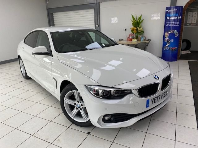 USED 2017 17 BMW 4 SERIES 2.0 420D SE GRAN COUPE 4d 188 BHP / AUTOMATIC ALPINE WHITE / BLACK DAKOTA LEATHER / 8 SPEED AUTOMATIC DIESEL