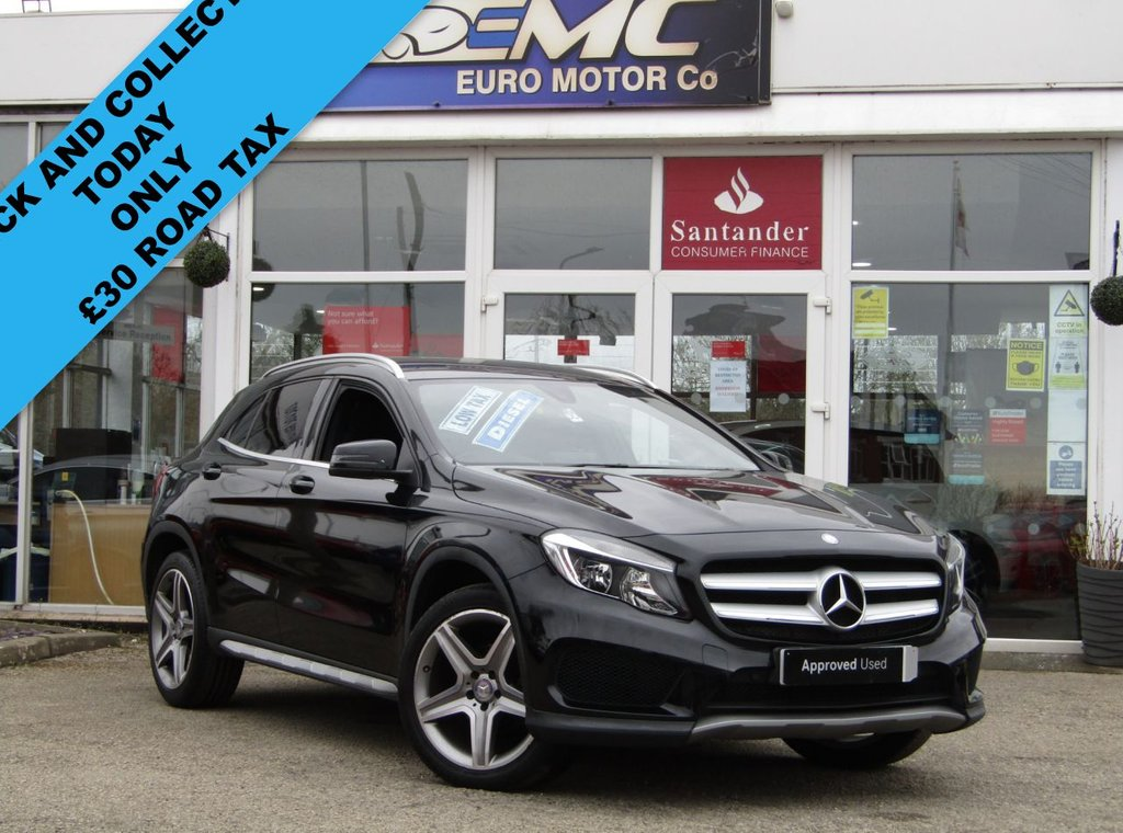 USED 2016 66 MERCEDES-BENZ GLA-CLASS 2.1 GLA 200 D AMG LINE 5d 134 BHP Finished in COSMOS BLACK with contrasting BLACK LEATHER/ ALACANTARA TRIM. This Mercedes GLA is a practical and comfortable SUV crossover with a high quality interior and distinctive styling. Features include, Reversing Camera, Alloys, Leather / Alcantara Seats, Electric tailgate, Power Folding Mirrors and much more. Mercedes Dealer serviced at 15899 miles, 37718 miles and at 50517 miles.