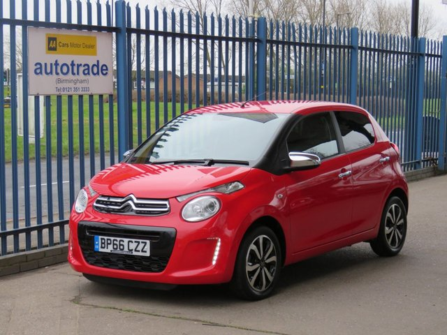 USED 2016 66 CITROEN C1 1.2 PURETECH FLAIR 5d 82 BHP £0 Road Tax,Air conditioning,Reverse Parking Sensors and rear privacy glass