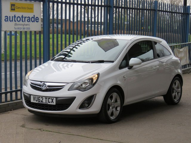 USED 2012 62 VAUXHALL CORSA 1.2 SXI AC S/S 3d 83 BHP Service History with 8 Stamps-Air Conditioning-Remote Locking with 2 Keys-Alloy Wheels