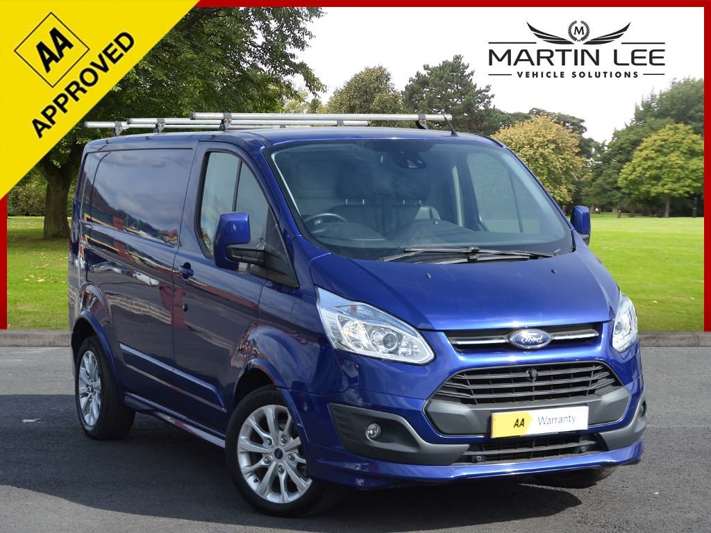USED 2015 15 FORD TRANSIT CUSTOM 2.2 290 SPORT LR P/V 153 BHP STUNNING RS BLUE SPORT CUSTOM