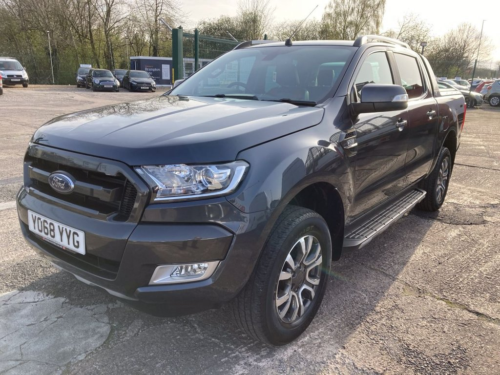 USED 2018 68 FORD RANGER 3.2 WILDTRAK 4X4 DCB TDCI 4d 197 BHP AUTO 1 OWNER FSH ROLLER TOP TOW BAR WARRANTY AUTOMATIC TOW BAR ROLLER TOP
