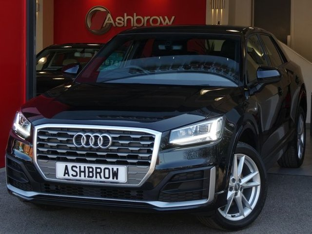 USED 2018 18 AUDI Q2 1.6 TDI S LINE 5d 115 S/S UPGRADE COMFORT & SOUND PACK (INC HEATED FRONT SEATS, PARKING SYSTEM PLUS W/ FRONT + REAR SENSORS W/ DISPLAY + BANG & OLUFSEN SOUND SYSTEM), UPGRADE MYTHOS BLACK METALLIC, SAT NAV, AUDI SMARTPHONE INTERFACE FOR APPLE CARPLAY / ANDROID AUTO / MIRROR LINK, DAB RADIO, BLUETOOTH W/ AUDIO STREAMING, BLACK ½ LEATHER INTERIOR, 18 INCH 5 Y SPOKE ALLOYS, LED HEADLIGHTS & DRLS + LED TAIL LIGHTS W/ DIRECTIONAL SWEEPING INDICATOR, HEADLAMP WASHERS, AUX INPUT, 2 x USB PORTS, CD PLAYER + 2x SD READERS, VAT Q.