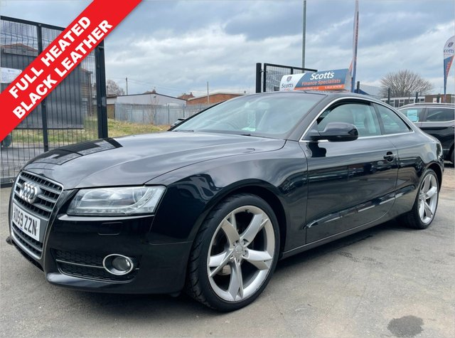 USED 2010 59 AUDI A5 2.0 TDI SPORT 2 DOOR COUPE DIESEL BLACK HEATED LEATHER