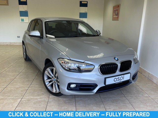 "USED 2017 17 BMW 1 SERIES 2.0 118D SPORT 5d 147 BHP GLACIER SILVER METALLIC, BLACK DAKOTA LEATHER, REAL TIME SAT NAV, CLIMATE CONTROL, CRUICE CONTROL, BLUETOOTH, SUN PROTECTION GLASS, MULTI FUNCTION STEERING WHEEL, ON BOARD COMPUTER, SPORT SEATS, HEATED FRONT SEATS, SPORT PK, DRIVER COMFORT PK, AUTO WIPERS AND HEADLIGHTS, FRONT AND REAR PARKING SENSORS, 17"" DOUBLE SPOKE ALLOY WHEELS, DAB RADIO/CD, LOW MILEAGE AND ECONOMICAL"