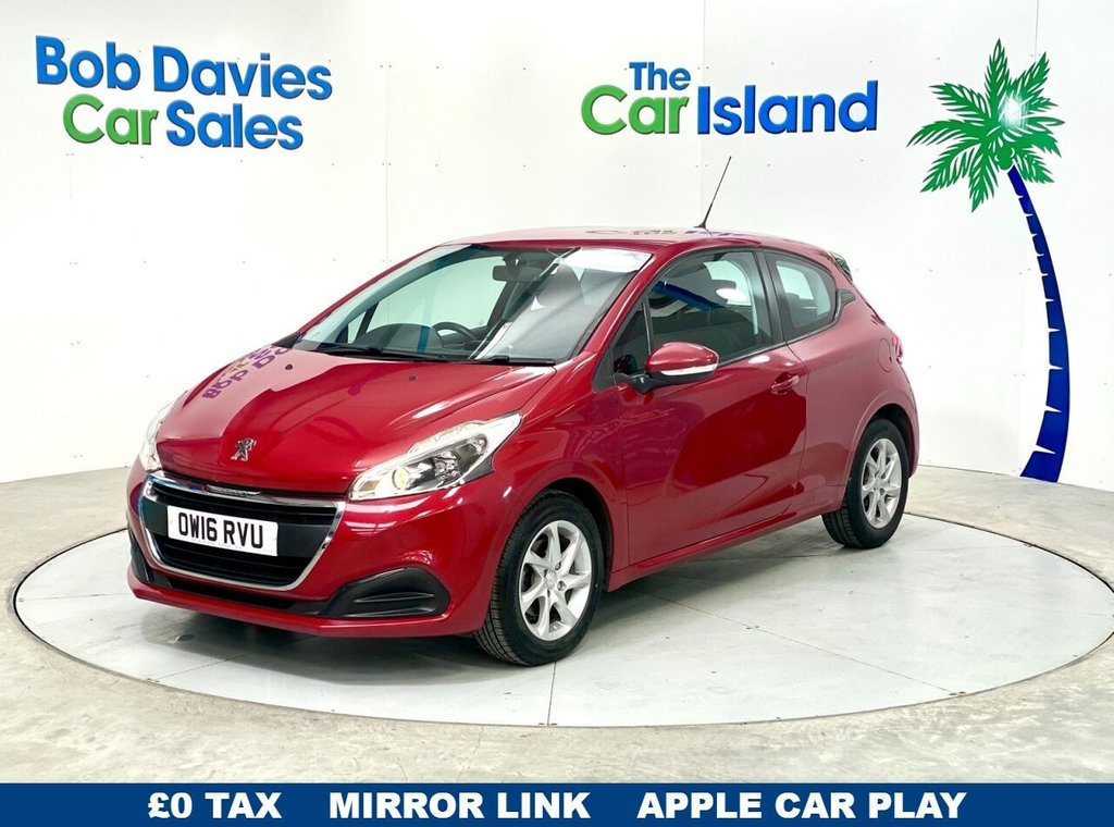 USED 2016 16 PEUGEOT 208 1.6 BLUE HDI S/S ACTIVE 3d 75 BHP Apple CarPlay  Bluetooth & Cruise Control 53000 miles