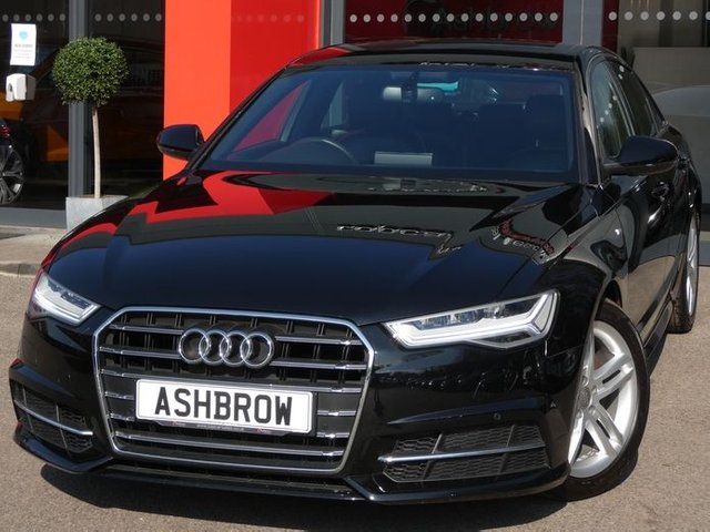 USED 2017 67 AUDI A6 SALOON 2.0 TDI ULTRA S LINE 4d 190 AUTO S/S 1 OWNER FROM NEW, SAT NAV, FULL BLACK LEATHER, HEATED FRONT SEATS, ELECTRIC FRONT SEATS WITH DRIVER MEMORY, ELECTRIC FOLDING HEATED DOOR MIRRORS, DAB RADIO, BLUETOOTH PHONE & MUSIC STREAMING, AMI, FRONT & REAR PARKING SENSORS WITH DISPLAY, LED LIGHTS, AUTOMATIC GEARBOX, 18 INCH ALLOYS, CRUISE CONTROL, SPORT SEATS WITH ELECTRIC LUMBAR SUPPORT, LIGHT & RAIN SENSORS WITH AUTO DIMMING REAR VIEW MIRROR, AUTO HOLD, LEATHER TIPTRONIC MULTIFUNCTION STEERING WHEEL (PADDLE SHIFT), SERVICE HISTORY, VAT Q