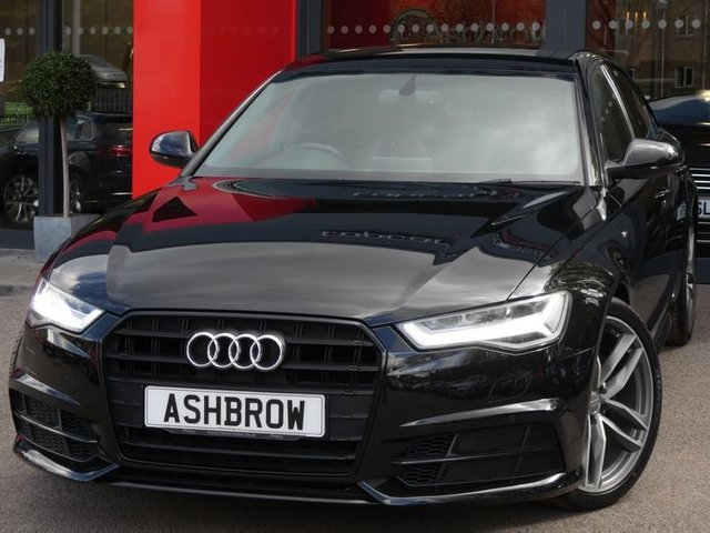 USED 2017 67 AUDI A6 SALOON 2.0 TDI ULTRA BLACK EDITION 4d 190 AUTO S/S 1 OWNER FROM NEW, FULL AUDI SERVICE HISTORY, HEATED FRONT SEATS, LEATHER FLAT BOTTOM MULTIFUNCTION TIPTRONIC STEERING WHEEL (PADDLE SHIFT), ELECTRIC FOLDING HEATED DOOR MIRRORS, ELECTRIC SEATS WITH DRIVER MEMORY, SAT NAV, FULL BLACK LEATHER, BOSE SOUND SYSTEM, 20 INCH ALLOYS, DAB RADIO, BLUETOOTH, AMI, FRONT & REAR PARKING SENSORS WITH DISPLAY, AUTOMATIC GEARBOX, PRIVACY GLASS, CRUISE CONTROL, SPORT SEATS WITH ELECTRIC LUMBAR SUPPORT, LIGHT & RAIN SENSORS WITH AUTO DIMMING REAR VIEW MIRROR, VATQ