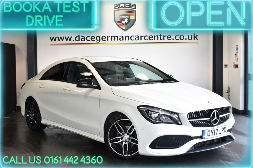 USED 2017 17 MERCEDES-BENZ CLA 2.1 CLA 200 D AMG LINE 4DR AUTO 134 BHP FULL HISTORY + 1/2 LEATHER + NAV + HEATED SEATS
