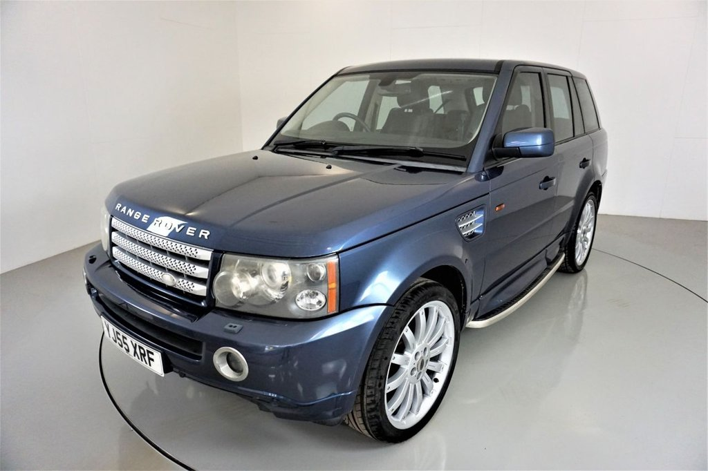 USED 2005 55 LAND ROVER RANGE ROVER SPORT 2.7 TDV6 HSE 5d-14 SERVICES STAMPS IN BOOK-ELECTRIC MEMORY SEATS-HARMAN KARDON-HEATED BLACK LEATHER-CRUISE CONTROL-CLIMATE CONTROL