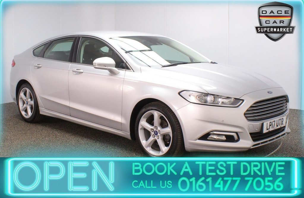USED 2017 17 FORD MONDEO 2.0 TITANIUM TDCI 5DR 1 OWNER AUTO 148 BHP SERVICE HISTORY + PARKING SENSOR + LANE ASSIST SYSTEM + BLUETOOTH + CRUISE CONTROL + CLIMATE CONTROL + MULTI FUNCTION WHEEL + XENON HEADLIGHTS + ELECTRIC WINDOWS + ELECTRIC/HEATED/FOLDING DOOR MIRRORS + ALLOY WHEELS