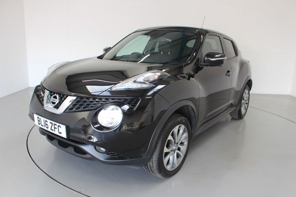 USED 2016 16 NISSAN JUKE 1.5 TEKNA DCI 5d 110 BHP-2 OWNER CAR-20 ROAD TAX-BLACK LEATHER-BLUETOOTH-CRUISE CONTROL-DAB RADIO-REVERSE CAMERA-AIR CONDITIONING