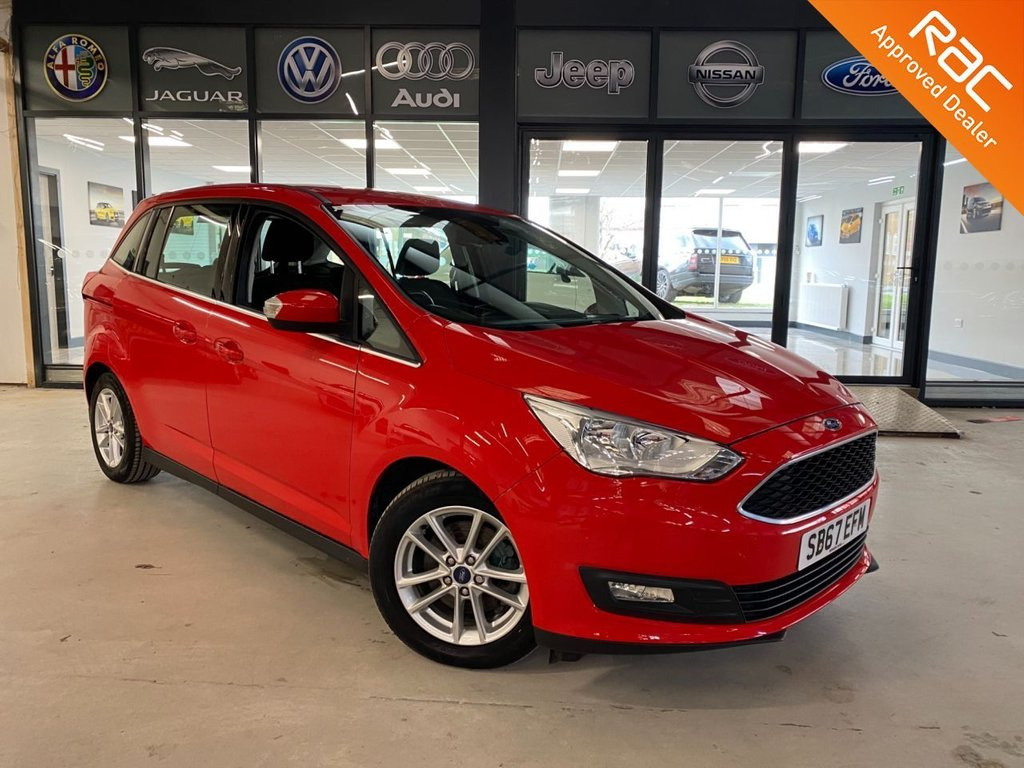 USED 2018 67 FORD GRAND C-MAX 1.0 ZETEC 5d 124 BHP Complementary 12 Months RAC Warranty and 12 Months RAC Breakdown Cover Also Receive a Full MOT With All Advisory Work Completed, Fresh Engine Service and RAC Multipoint Check Before Collection/Delivery