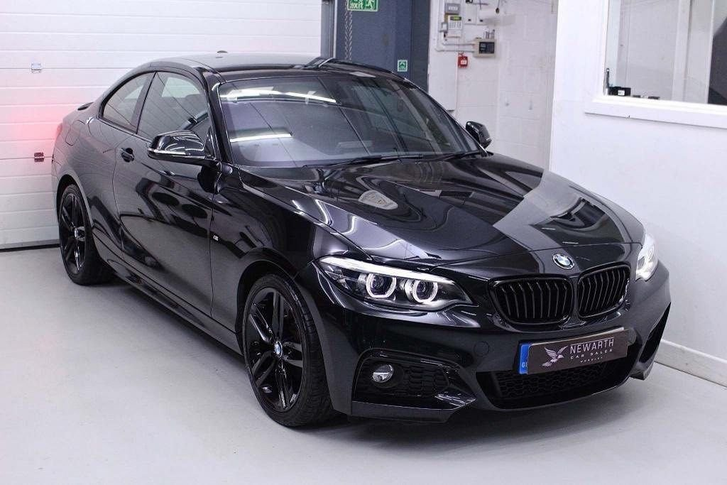 USED 2017 67 BMW 2 SERIES 2.0 218d M Sport (s/s) 2dr BLACK | BLACK | BLACK