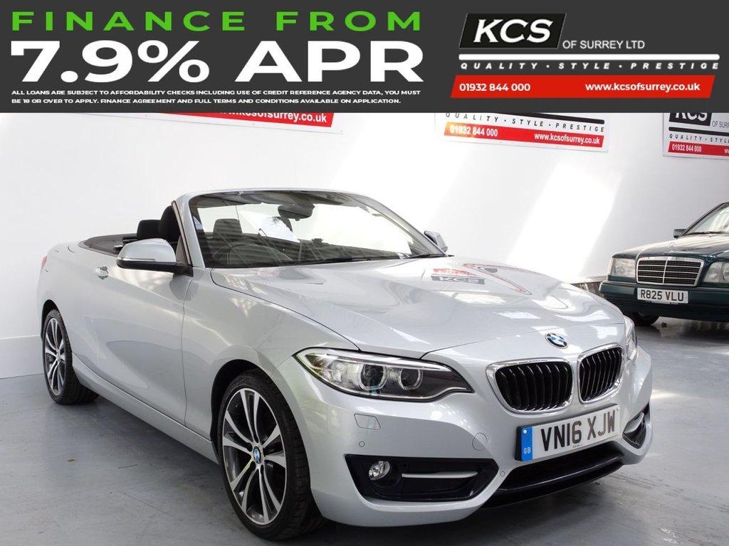 USED 2016 16 BMW 2 SERIES 2.0 220D SPORT 2d 188 BHP PRO NAV - XENONS - HTD SEATS
