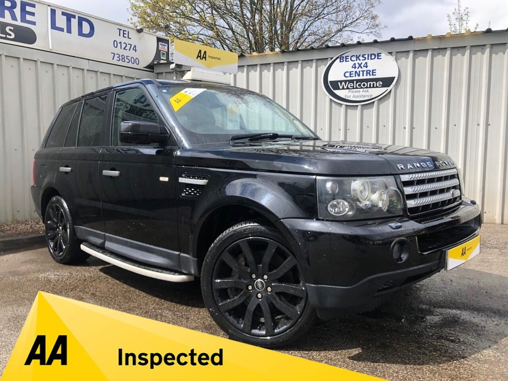 USED 2008 08 LAND ROVER RANGE ROVER SPORT 2.7 TDV6 SPORT HSE 5d 188 BHP AA INSPECTED. FINANCE. WARRANTY. HIGH SPEC. LOW MILEAGE. MANY EXTRAS