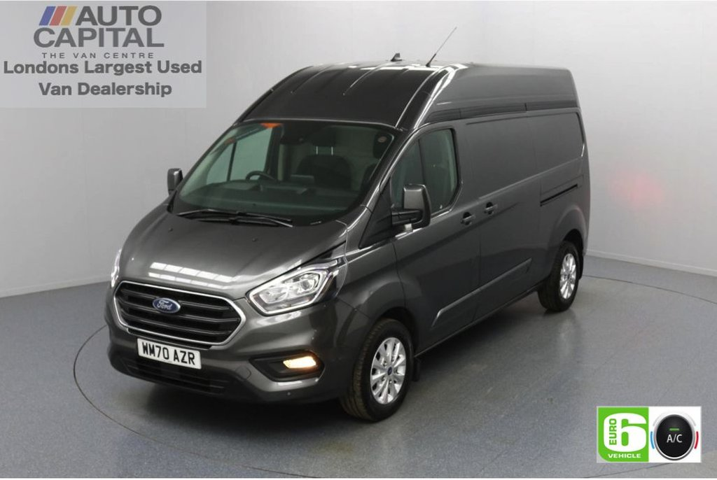 USED 2020 70 FORD TRANSIT CUSTOM 2.0 300 Limited EcoBlue Auto 170 BHP L2 H2 Euro 6 Low Emission Automatic Gearbox   Sat Nav   Eco Mode   Auto Start-Stop   Front and rear parking distance sensors