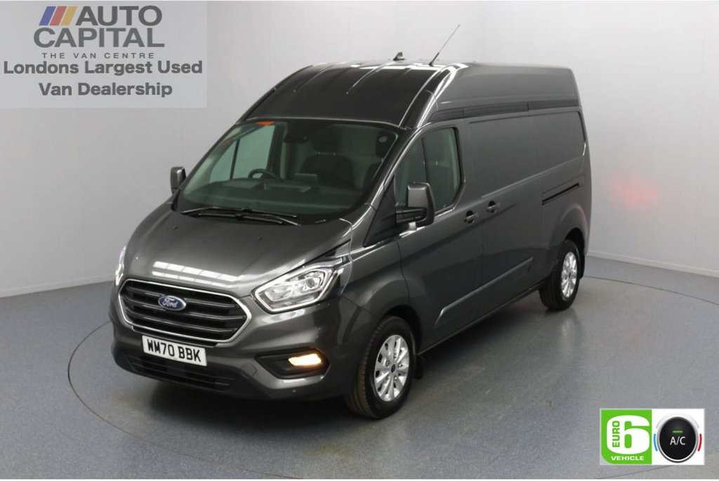 USED 2020 70 FORD TRANSIT CUSTOM 2.0 300 Limited EcoBlue Auto 170 BHP L2 H2 Euro 6 Low Emission Automatic Gearbox | Sat Nav | Eco Mode | Auto Start-Stop | Front and rear parking distance sensors