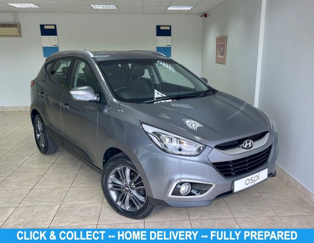 "USED 2015 15 HYUNDAI IX35 1.7 SE NAV CRDI 5d 114 BHP SLEEK SILVER METALLIC, BLACK HAL LEATHER, SATELLITE NAVIGATION, CLIMATE CONTROL, HEATED FRONT SEATS, 17"" ALLOY WHEELS, REAR CAMERA, REAR PARKING SENSORS, CRUISE CONTROL, RADIO/C.D.,"