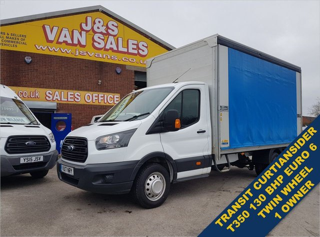 USED 2017 17 FORD TRANSIT 2.0 350 L5 L.W.B CURTAINSIDER EURO 6 LOW MLS BIG STOCK EURO 6 OVER VANS OVER 100 ON SITE