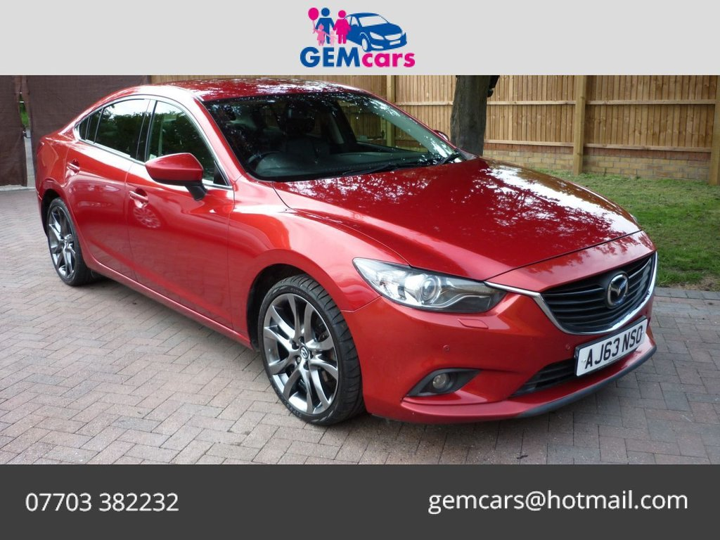USED 2013 63 MAZDA 6 2.2 D SPORT NAV 4d 173 BHP GO TO OUR WEBSITE TO WATCH A FULL WALKROUND VIDEO