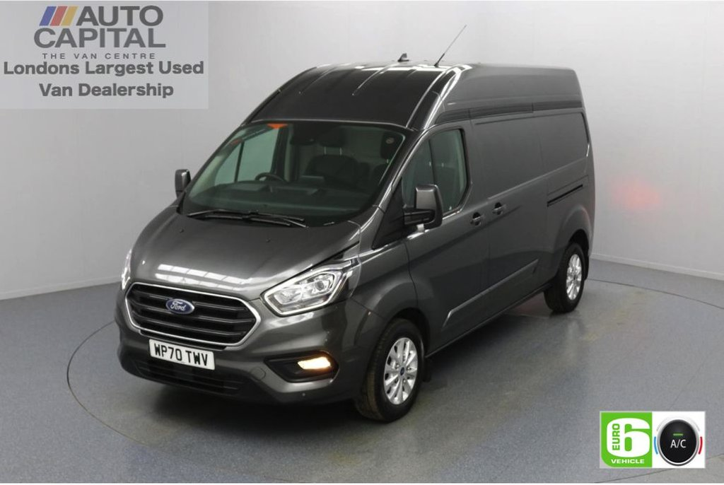 USED 2020 70 FORD TRANSIT CUSTOM 2.0 300 Limited EcoBlue Auto 170 BHP L2 H2 Euro 6 Low Emission Automatic Gearbox   Eco Mode   Auto Start-Stop   Front and rear parking distance sensors